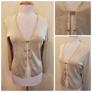 Griffith Gray St. John Gold Cardigan Heart Buttons